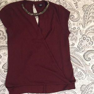 Gently worn burgundy Mossimo blouse